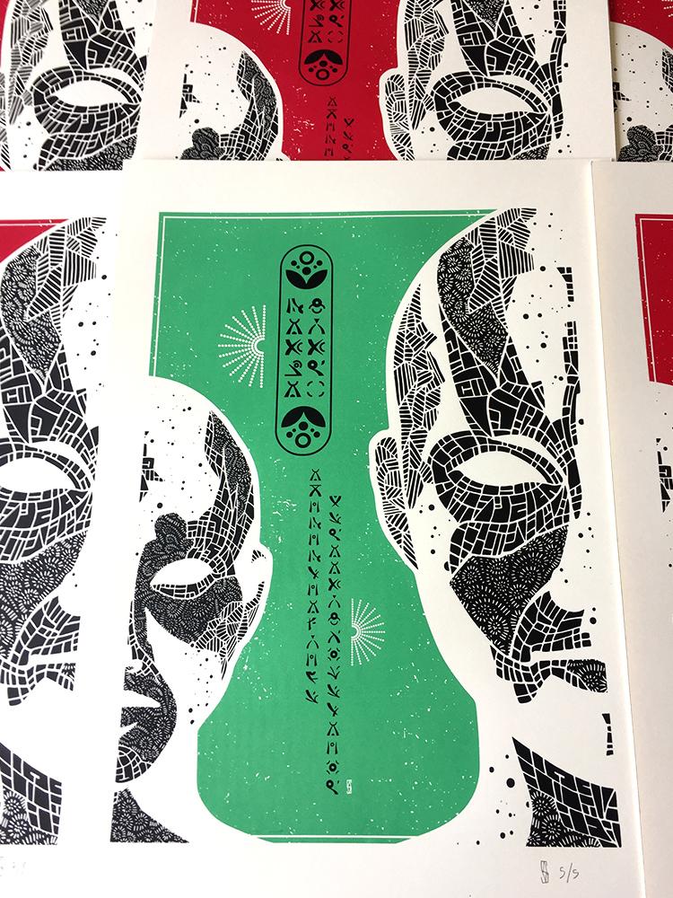 sebva screen printing poster